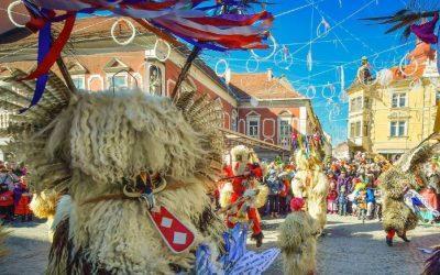 Как проходит весенний карнавал в Словении